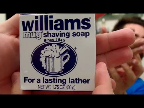 how to use williams mug shaving soap