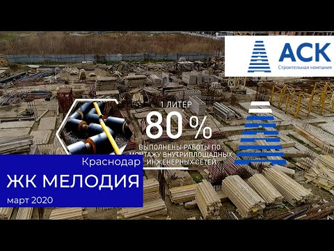 Ход строительства ЖК Мелодия ✔литер 1 ✔март 2020 ✔видео отчет 🔷 АСК - квартиры от застройщика