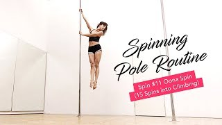 Intermediate Spinning Pole Routine (Oona Spin) And a Freestyle