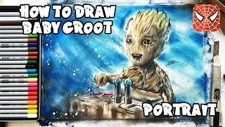 How to Draw Baby Groot | Guardians of the Galaxy 2 | Art Kids