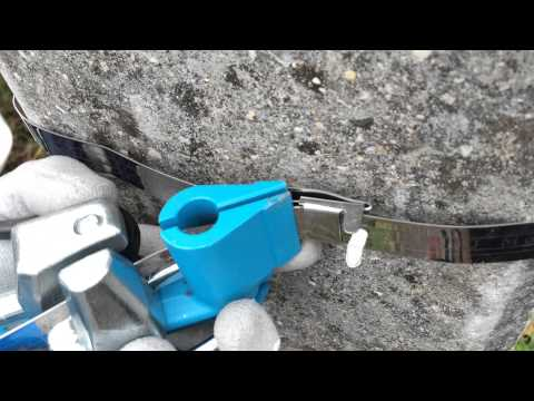 Монтаж на опоре бандажной ленты Telenco Sb207  20* 0.7мм эконом