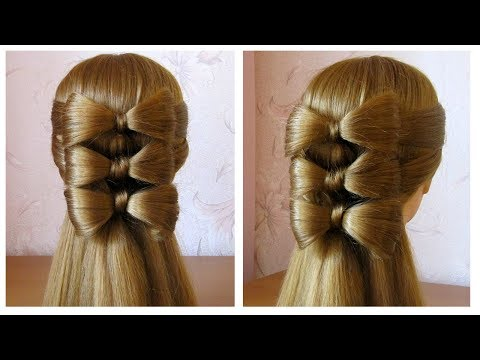 coiffure avec noeud papillon cheveux long hair bow tutorial hairstyle for long hair youtube. Black Bedroom Furniture Sets. Home Design Ideas