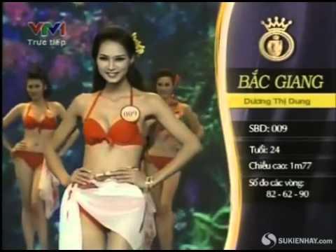 (FULL) Chung kết hoa hậu Việt Nam 2012 - Phần thi áo tắm (Phần 1/2)