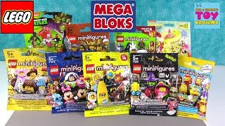 Lego Mega Bloks Blind Bag Figure Palooza Opening | Disney Monsters Simpsons | PSToyReviews