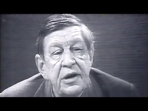 "WH Auden recites ""Doggerel by a Senior Citizen"" 1969"