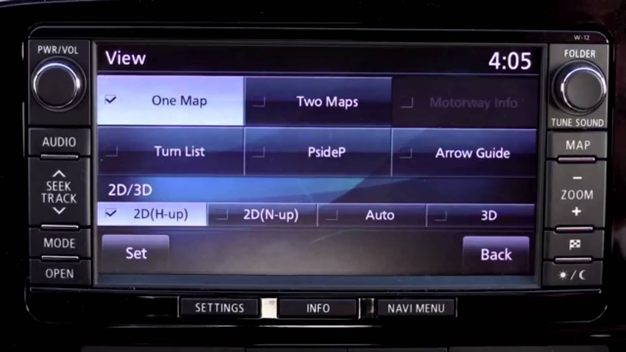 How to work the PHEV Sat nav system