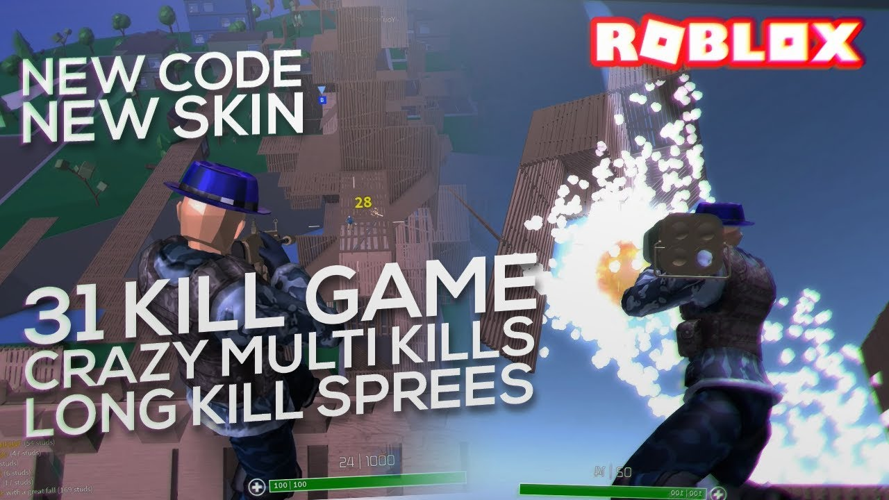 I actually got 30+ KILLS with the NEW SKIN in ROBLOX ...