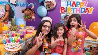 MOANA'S Birthday Party FUN for Kids! Sally is 3!!