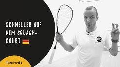 Squash-Tipps: Schneller auf dem Squash-Court