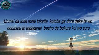 Download lagu Sparkle - Kimi no na wa Lyrics (WishLyrics)
