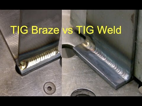 Tig Brazing vs Tig Welding - YouTube