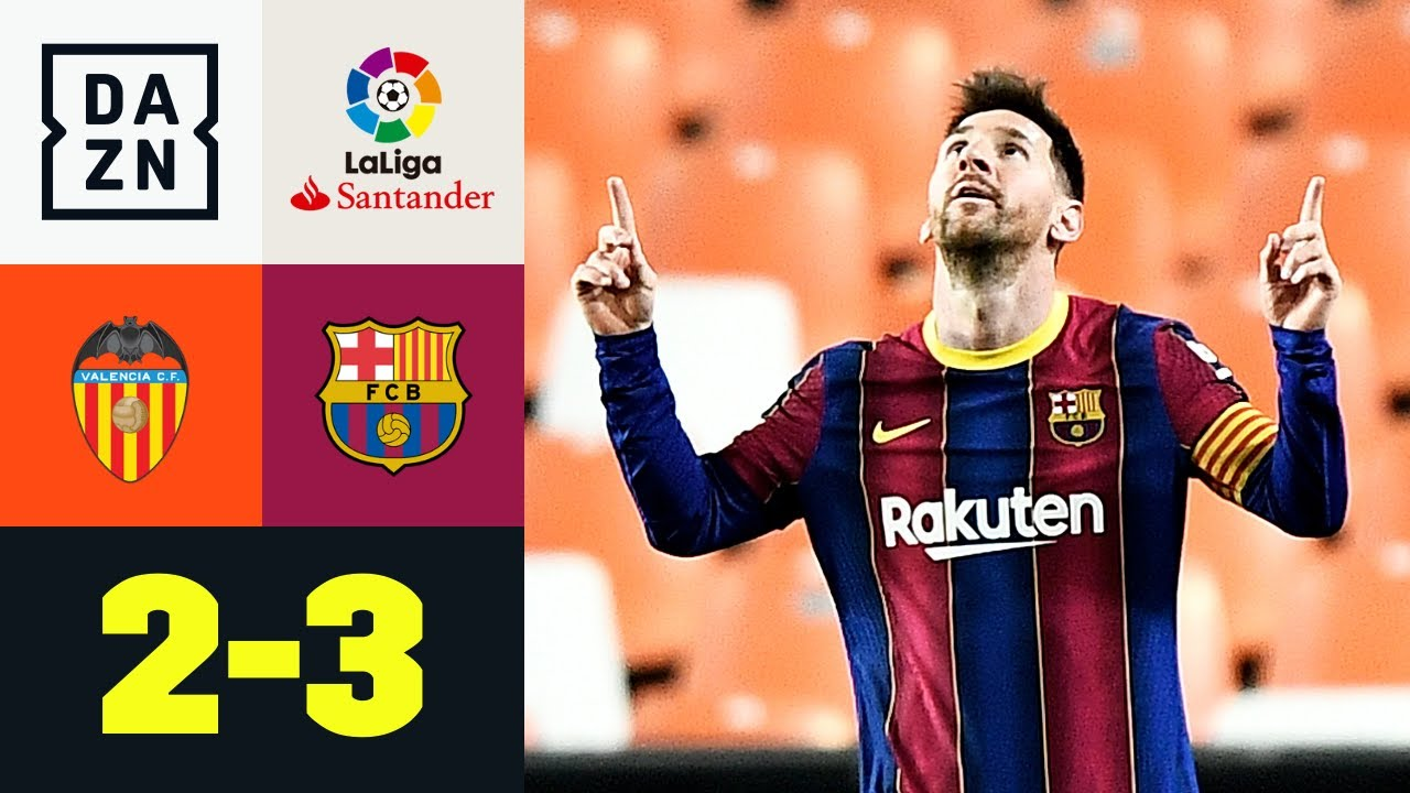 Download Messi-Traumtor hält Barca im Titelrennen: Valencia - Barcelona 2:3 | LaLiga | DAZN Highlights