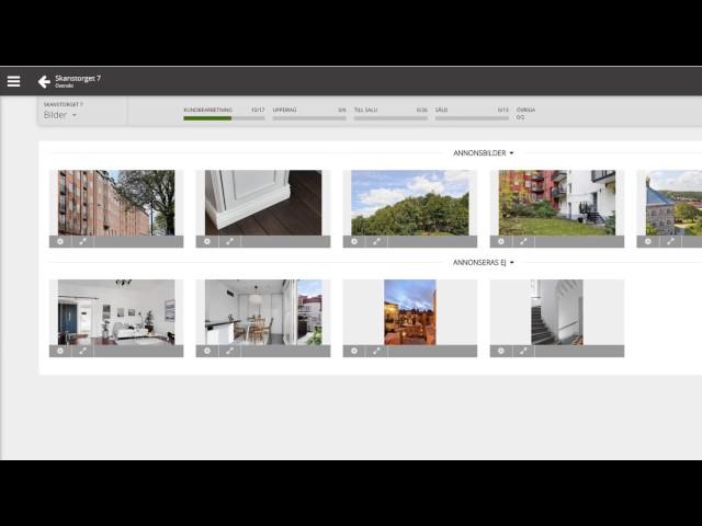 Förbereda försäljningen (bilder, förhandsgranska utkast, marknadsplatser)