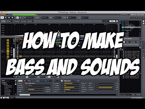 How to produce Music - BASS, SOUNDS AND MORE