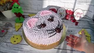 Торт на Новый Год 2020 Как приготовить новогодний торт 2020 Торт мышь