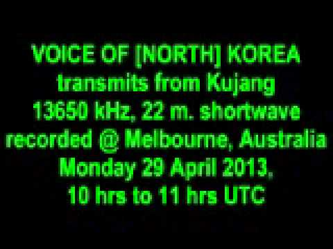 VOICE OF KOREA [NORTH] shortwave 29 April 2013