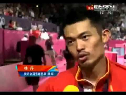 Lin Dan Postgame Interview after beating Lee Chong Wei to retain Olympic badminton