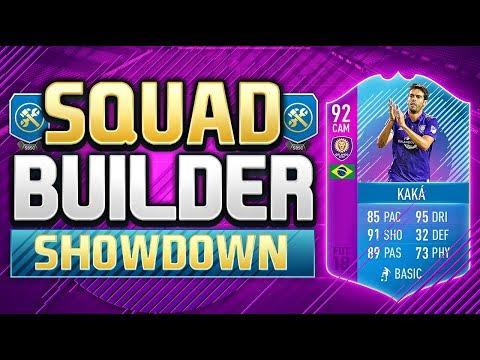 FIFA 18 SQUAD BUILDER SHOWDOWN!!! END OF ERA ICON KAKA!!! 92 Rated Kaka Squad Duel
