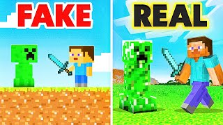 Playing The FAKE VERSION of MINECRAFT!