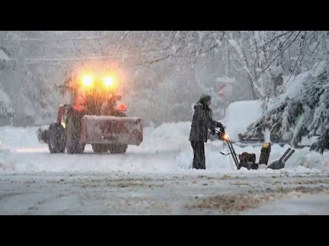 Winter Storm hits New Brunswick