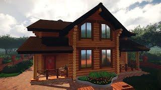 Проект двухэтажного деревянного жилого дома