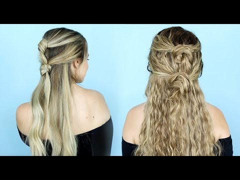 Double Knot Half Updo For Straight And Curly Hair Kayleymelissa