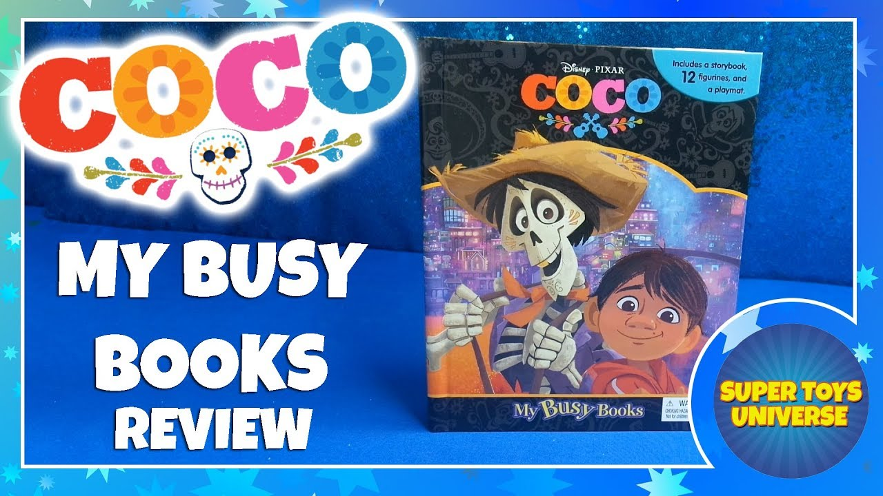 10 FIGURES AND A PLAYMAT BRAND NEW DISNEY PIXAR COCO BUSY BOOK