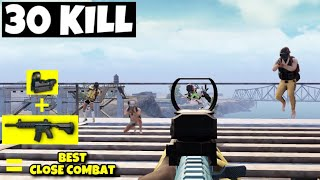THIS IS THE BEST CLOSE COMBAT COMBO ! | SOLO VS SQUAD | PUBG MOBILE