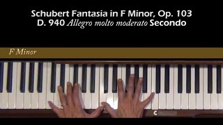 Schubert Fantasia in F Minor Op. 103, D. 940 Secondo Tutorial I