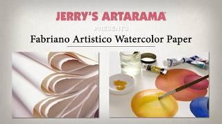 Fabriano Artistico Watercolor Paper - Product Demo