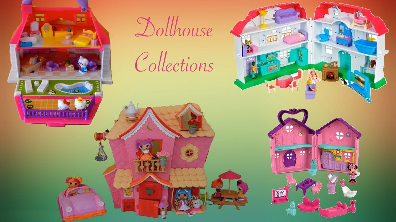 Awesome Dollhouse Collection Hello Kitty Lalaloopsy Minnie Mouse   YouTube
