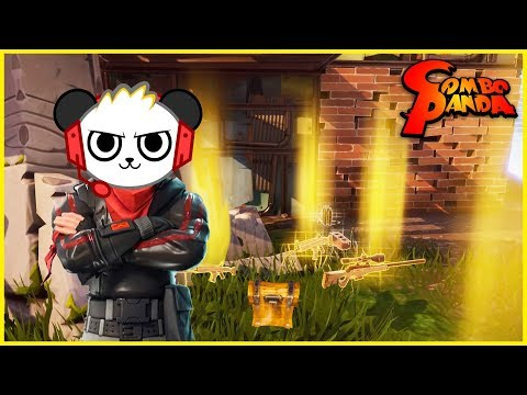 Fortnite Gold VICTORY ROYALE GOLD ONLY CHAMPION Let's Play With Combo Panda
