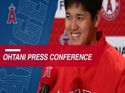 Ohtani introduced at Angels Spring Training camp