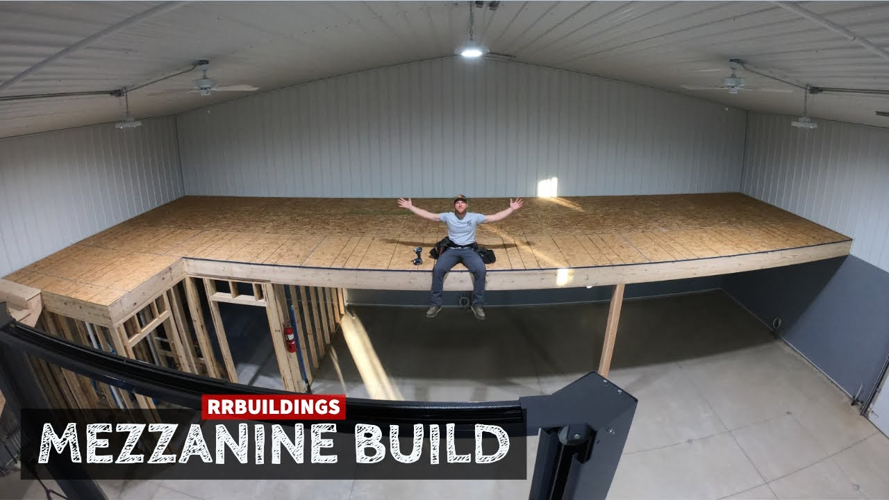 Building A Large Mezzanine With Stair Case Youtube