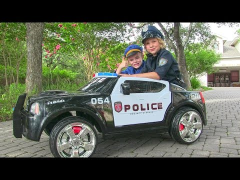 Ride On Police Car for Kids - Unboxing, Review and Riding Dodge Charger