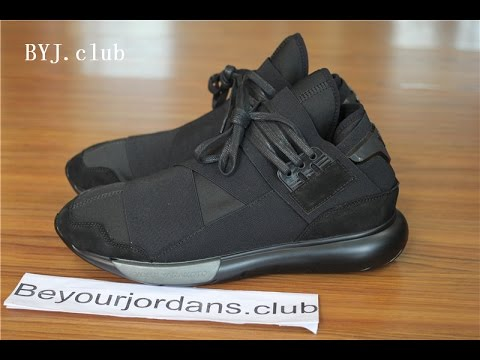 3a35d7ef20e2 Adidas Y-3 Qasa High Triple Black Yohji Yamamoto best version B25187 from  Beyourjordans.club