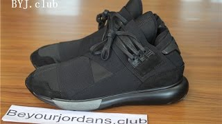 0179ab6b950 Adidas Y-3 Qasa High Triple Black Yohji Yamamoto best version B25187 from  Beyourjordans.