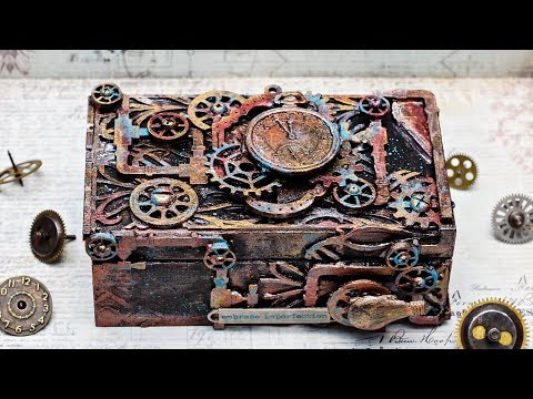 Mediowa szkatułka z filmem video/ Mixed media box with a video tutorial
