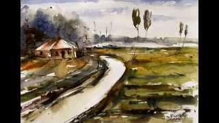 Beauty of Bangladesh Watercolor paintings by Mimo