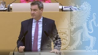 Ministerpräsident Dr. Söder im Landtag am 11. Juli 2018 - Bayern