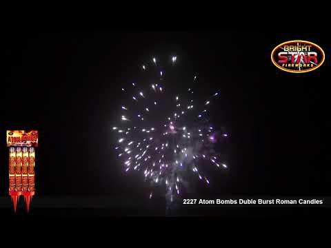 Bright Star Fireworks   2227 Atom Bombs Double Burst Roman Candles Max 720p