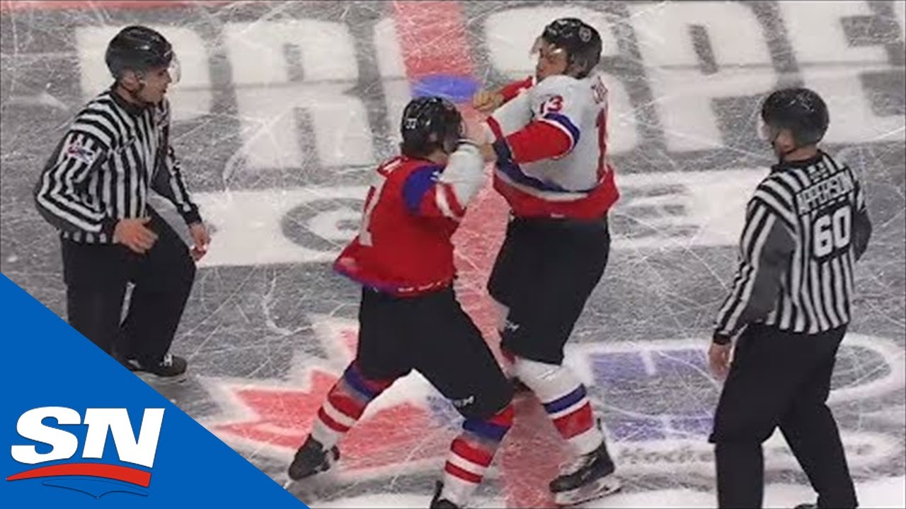Sebrango And Cuylle Drop The Gloves During CHL Top Prospects Game