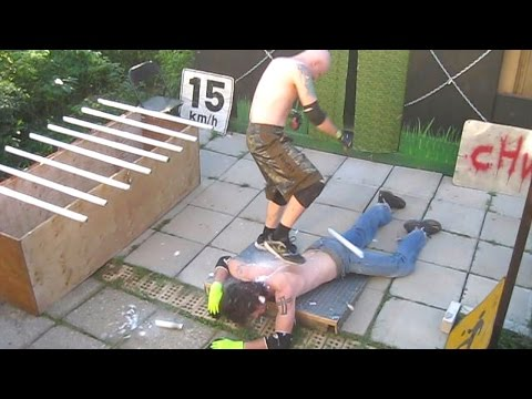 Buried In Blood Match - Swede Savard (c) VS Ric Roberts {CHW Championship} Backyard Wrestling