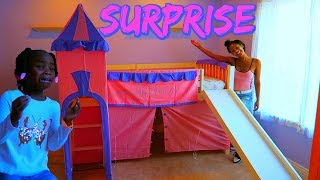 Surprising My Daughter With A New Princess Bed (I Made Her Cry)