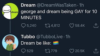 george and dream being GAY for 10 MINUTES 🏳️‍🌈