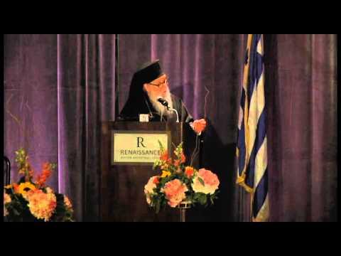 His Eminence Elder Archbishop Demetrios, Philoptochos, Medical Fund Luncheon 2015