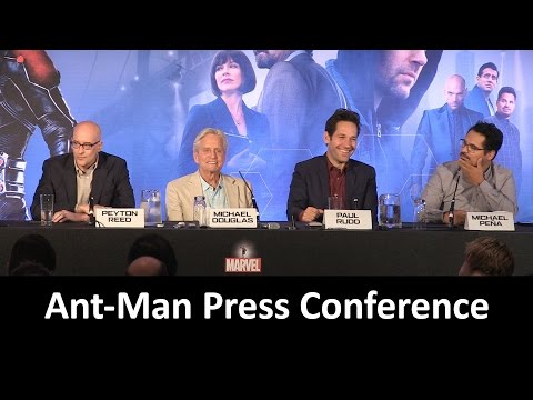 Ant-Man Press Conference in Full (Douglas, Rudd, Pena, Reed)