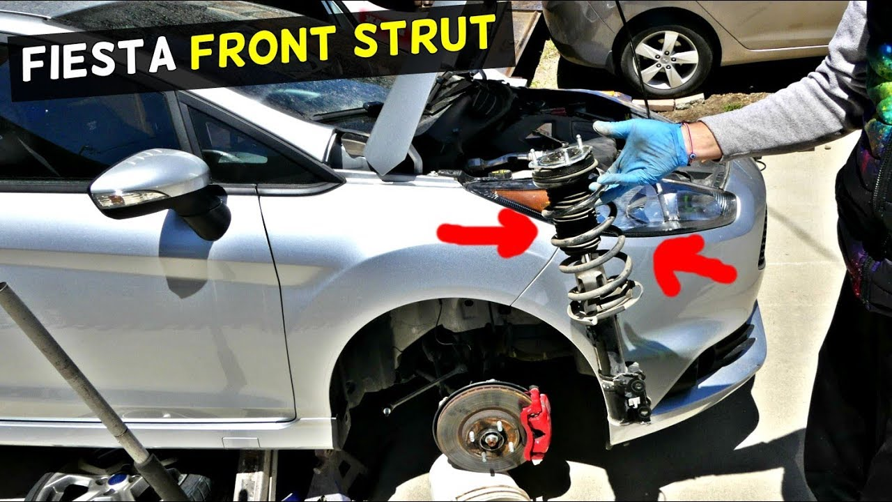 Ford Fiesta Front Strut Replacement Removal Mk7 St Youtube