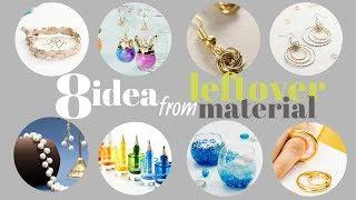 8 Idea from Leftover Material 丸カンやTピンやマニキュア瓶、余ったものでできる簡単DIY