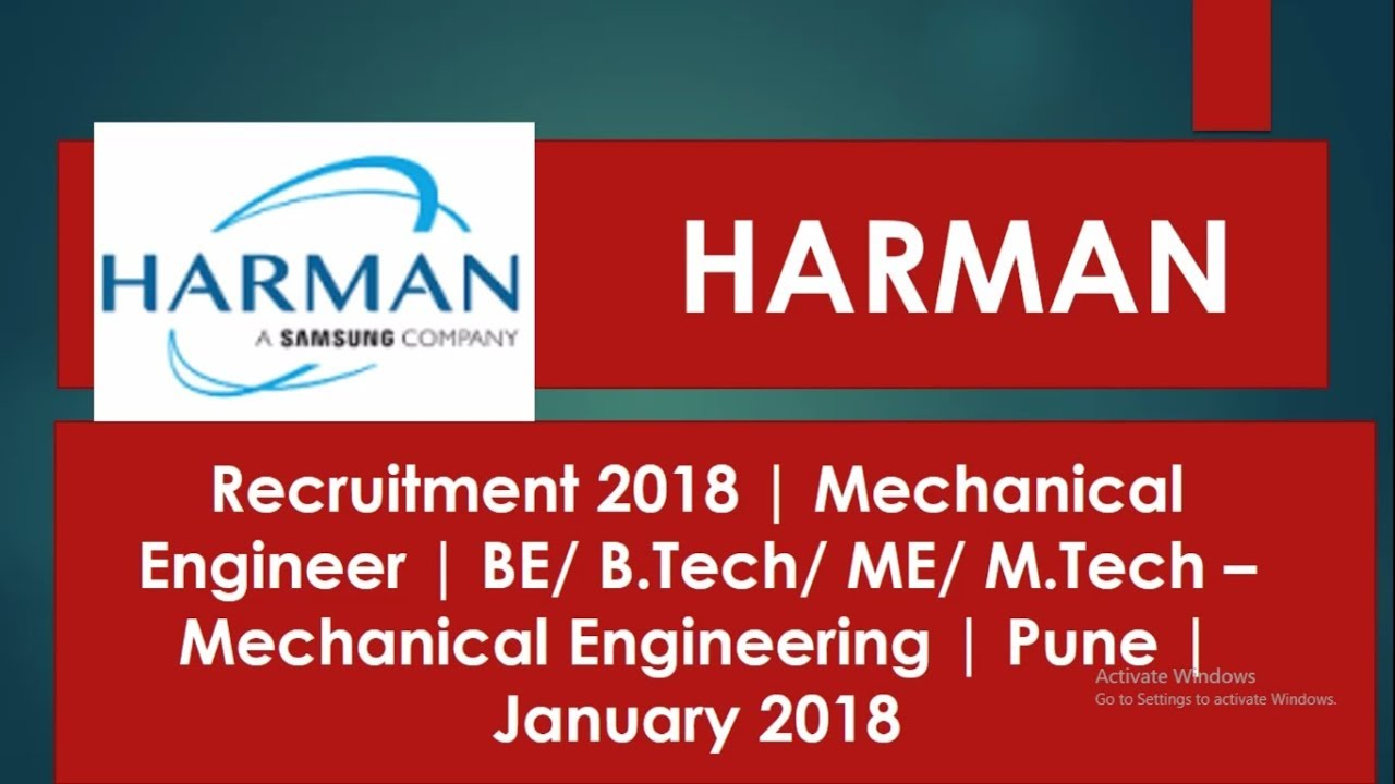 HARMAN Recruitment 2018